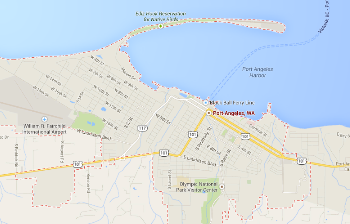 Port Angeles Map