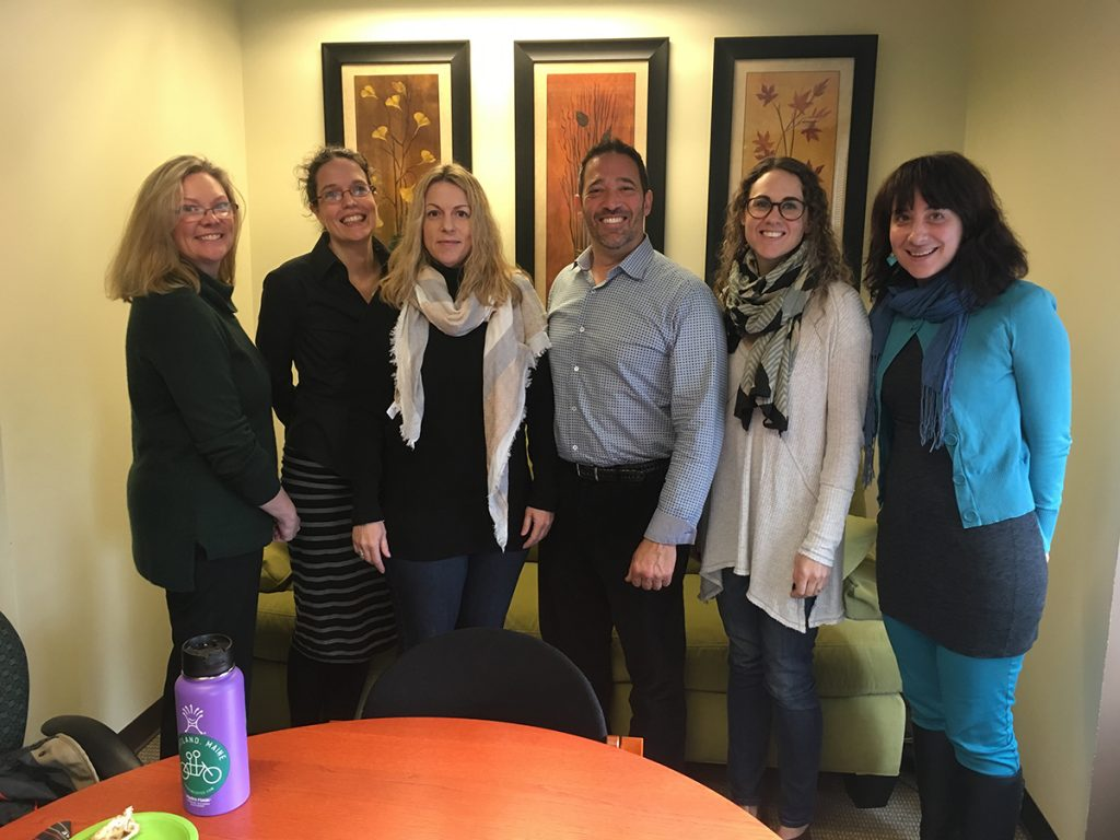 Membership Manager at the Association of Washington Business Andy Kaplowitz with Executive Director Amy Lillard, Director of Finance & Operations Julie Daman, Executive Assistant Ashley Fendler, and Communications Coordinator Amber Cortes.